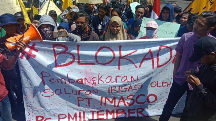 PMII Jember aksi demo