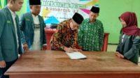 PC IPNU-IPPNU Bojonegoro Teken Mou bersama LP Ma'arif dan Pergunu sekaligus Rakerancab (santrinews.com/istimewa)