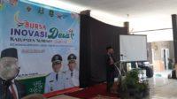 Bupati Sumenep KH Busyro Karim membuka Bursa Inovasi Desa